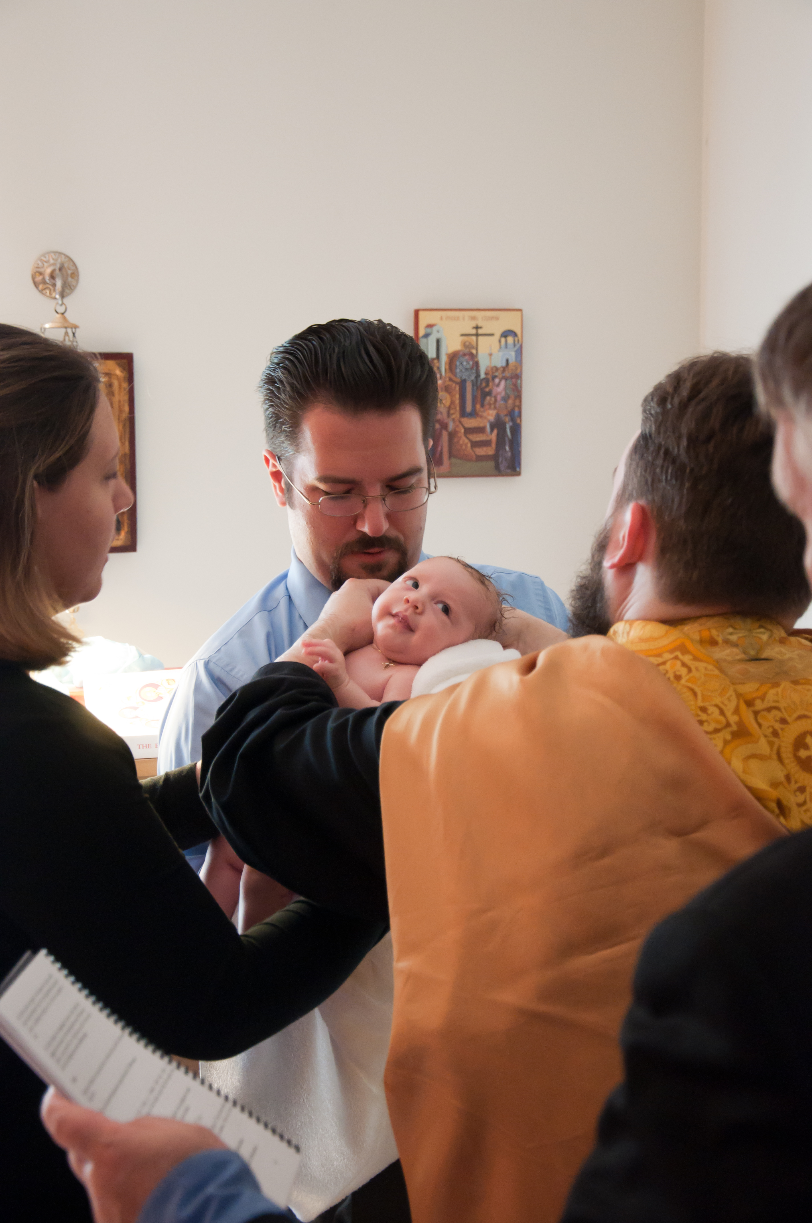 Putting the Cross on the Newly-Baptized