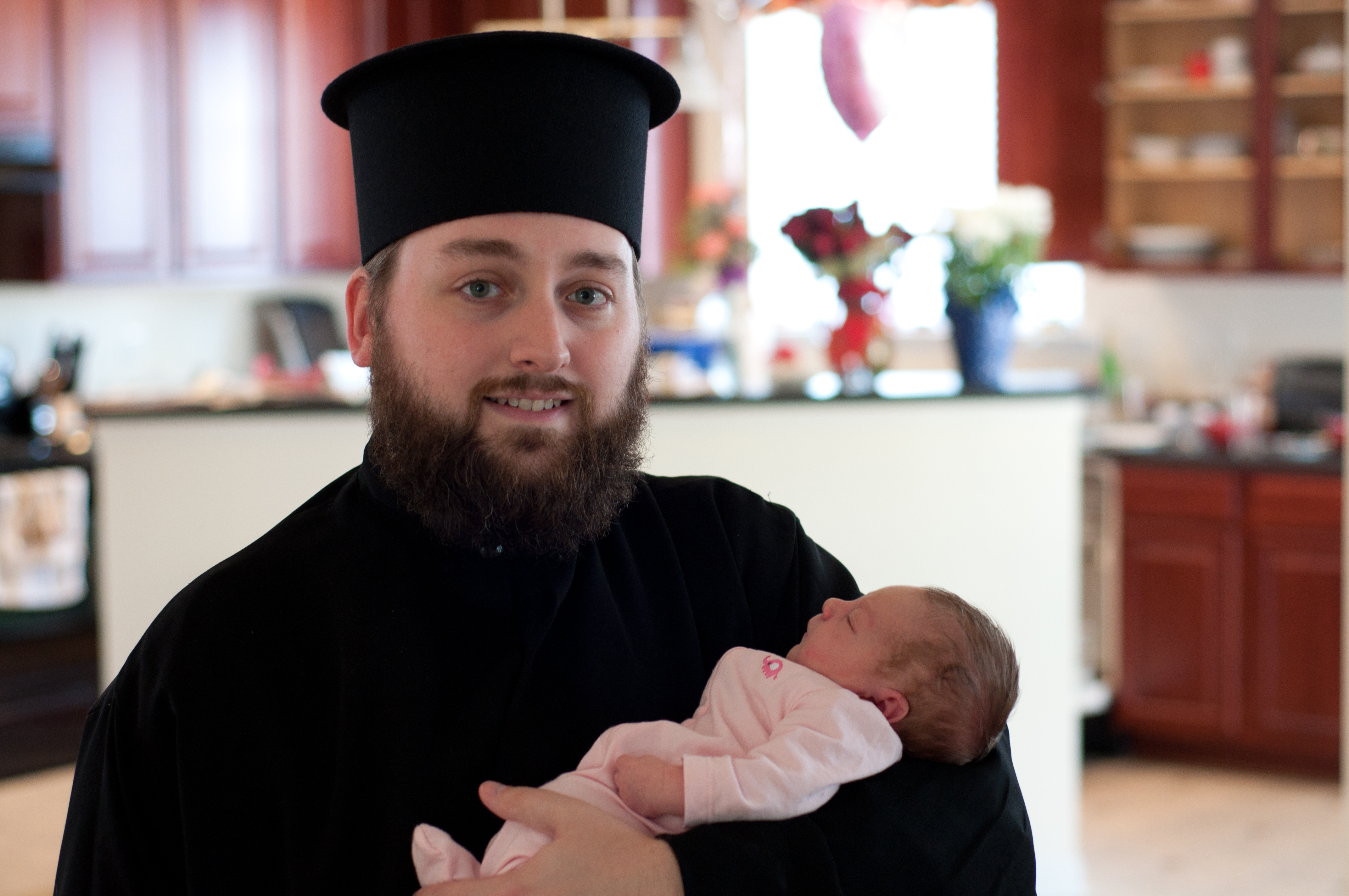 Fr. Anastasios With His Daughter